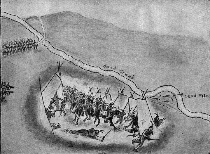 Drawing of Sand Creek Massacre