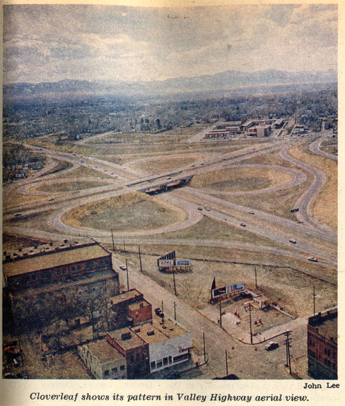 A Cloverleaf on the Valley Highway in 1959