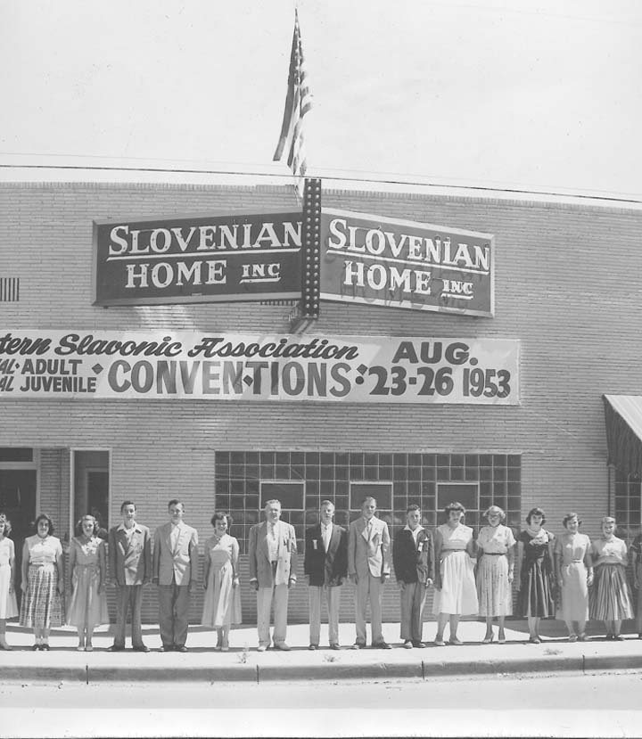 Slovenian Home in 1953. Photo courtesy of Joseph Skrabec.