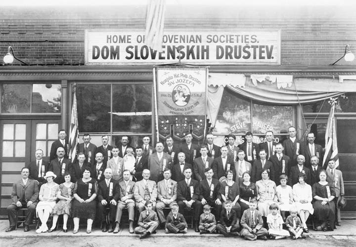 Slovenian Societies in 1925 - photo courtesy of Joseph Sadar