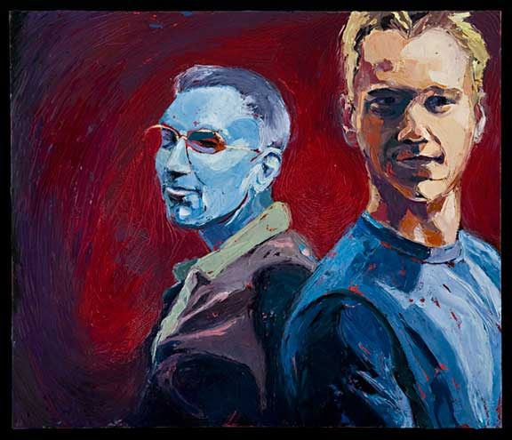 Eric and Jasper - painting by Sharon Feder (2008)