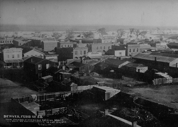 Denver Flood of 1864, From Chamber of Commerce Looking North
