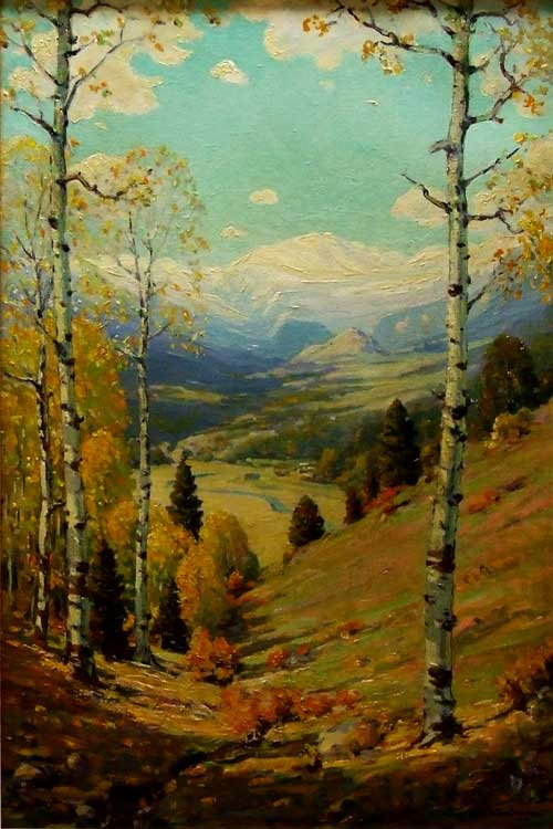 Robert Alexander Graham (1873 - 1946), Rocky Mountain National Park c1925, oil on canvas