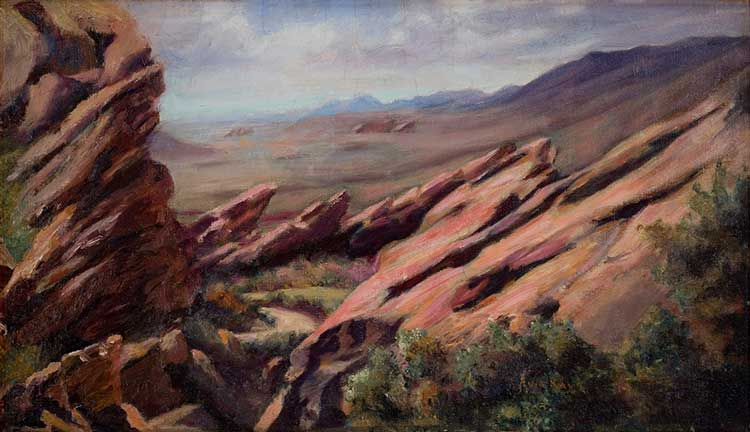 Eula Ray (1903 - 1987). Landscape nd, oil