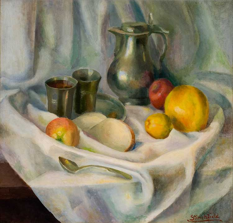Estelle Stinchfield (1878 - 1945), Still Life 1930, oil on canvas